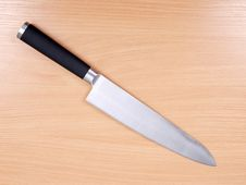 Free Kitchen Knives On Wood Stock Photo - 21099120