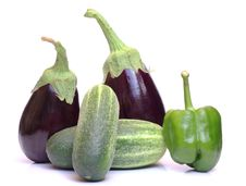 Free Peppers And Cucumber Stock Photography - 21099142