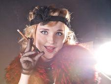 Free Retro Girl Royalty Free Stock Photos - 21099318