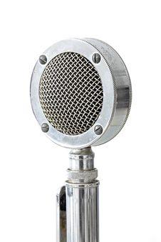 Free Vintage Microphone Stock Image - 21099401
