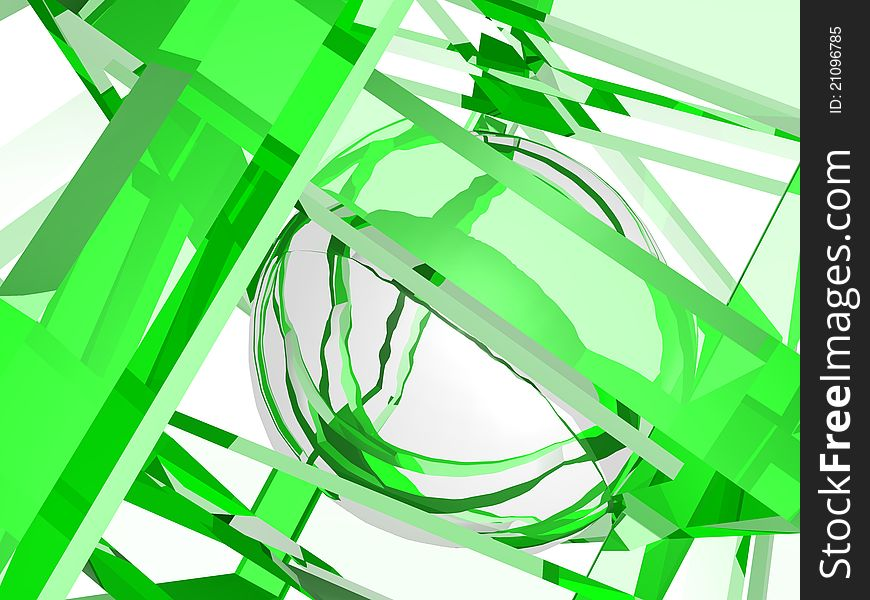 Geometry composition in green