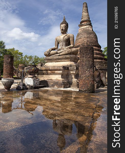 The reflex of buddha