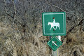Free Equine Trail Sign Royalty Free Stock Photography - 2112787