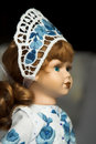Free Doll In Folk Costume With Blue Royalty Free Stock Photography - 2116567