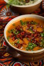 Free Potatoes Soup With Red Pepper Royalty Free Stock Photos - 2116658