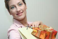 Free Shopping Woman Royalty Free Stock Photo - 2110165