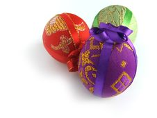 Free Easter Painted Egg Tied Up By Tapes Royalty Free Stock Images - 2110739