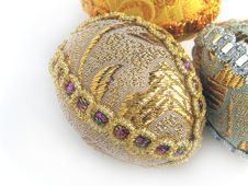 Two Easter Egg Gold And Silver 3 Royalty Free Stock Photography