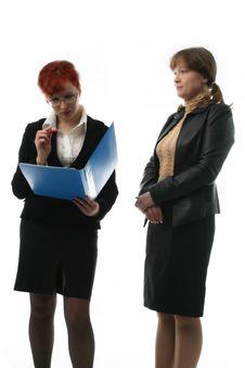 Free Two Businesswomen Royalty Free Stock Photos - 2111058
