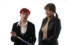 Free Two Businesswomen Stock Photography - 2111062