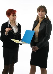 Free Two Businesswomen Royalty Free Stock Images - 2111069