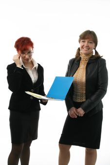 Free Two Businesswomen Royalty Free Stock Images - 2111119