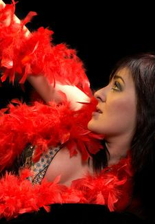Free Woman With Plumes Stock Photography - 2111142