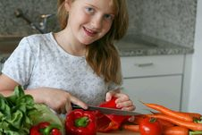 Free Girl At The Kitchen Stock Photo - 2112800