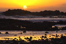 Sunrise Over Rocks Stock Images