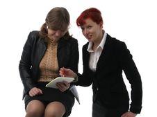Free Two Businesswomen Royalty Free Stock Photos - 2115068