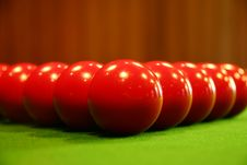 Free Pool Balls On A Green Table Stock Photo - 2115450