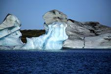Icebergs On Jokulsarlon Lagoon Royalty Free Stock Image