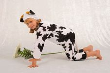 The Girl In A Fancy Dress Of T Royalty Free Stock Image