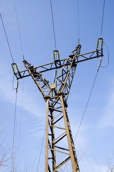 The Power Transmission Line Stock Image