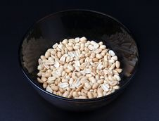Peanuts In Plate Stock Image