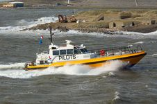 Free Pilot Boat In A Storm Stock Image - 2117411