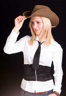 Free Blonde Cowgirl Royalty Free Stock Photography - 2118447