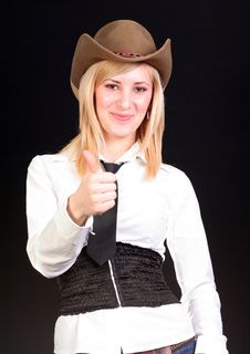 Free Blonde Cowgirl Stock Photography - 2118452