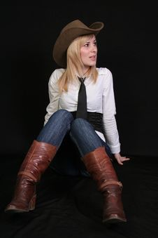 Free Blonde Cowgirl Stock Photography - 2118462