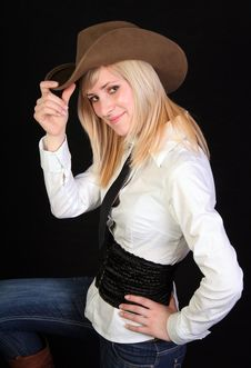 Free Blonde Cowgirl Royalty Free Stock Images - 2118489