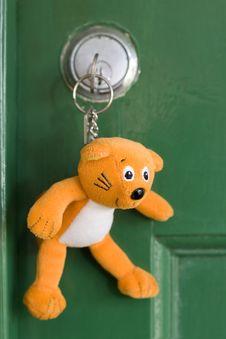 Free Keyring In Door Stock Photo - 2119050