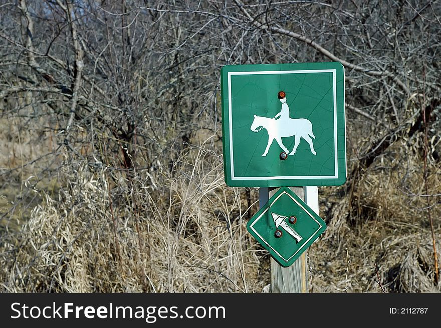 Equine Trail Sign