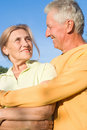 Free Elderly Couple At Nature Royalty Free Stock Images - 21100399
