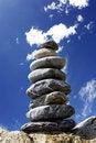 Free Pyramid Of Stone On The Beach Royalty Free Stock Photo - 21101005