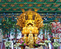 Free Guan Yin Statue In Temple , Thailand Stock Image - 21102131