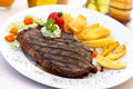 Free New York Strip Steak With Vegetables Royalty Free Stock Photo - 21104845