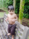 Free Wet Toddler Boy Standing After Playing With Water Royalty Free Stock Photos - 21106898
