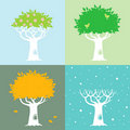 Free Four Seasons And A Tree Royalty Free Stock Image - 21106956