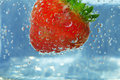 Free Splashing Strawberry Royalty Free Stock Image - 21109256