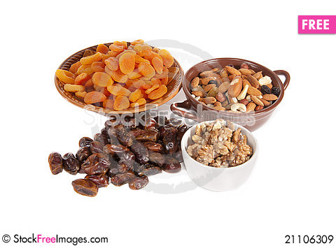 Free Dried Fruits In Vases Royalty Free Stock Images - 21106309