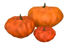 Three Halloween Pumpkins Stock Image