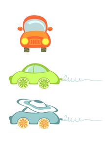 Free A Set Of Little Cars. Isolated On White. Stock Images - 21100254