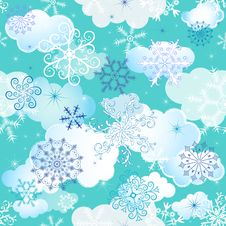 Free Seamless Winter Pattern Stock Photos - 21100313