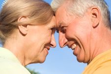 Free Aged Couple At Nature Stock Image - 21100371