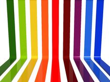 Free 3d Rainbow Lines Royalty Free Stock Photos - 21100598
