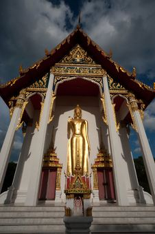 Free Stand Big Buddha . Royalty Free Stock Photography - 21100727