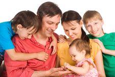 Pretty Family Portrait Stock Photography