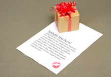 Letter With Kiss Stock Image