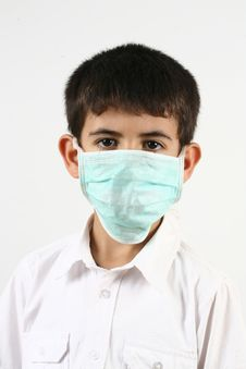 Free Little Boys And A Mask Stock Photography - 21102122