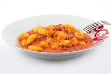 Free Potato Gnocchi With Tomato Sauce Royalty Free Stock Photography - 21102207